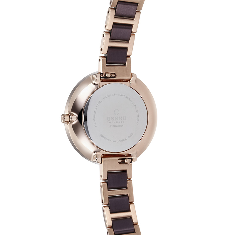 Obaku Women watch VAND - COFFEE BACK view