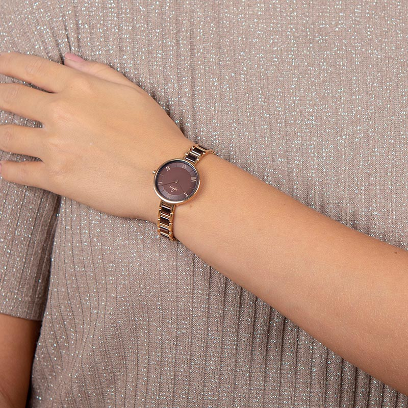 Obaku Women watch VAND - COFFEE WRIST view