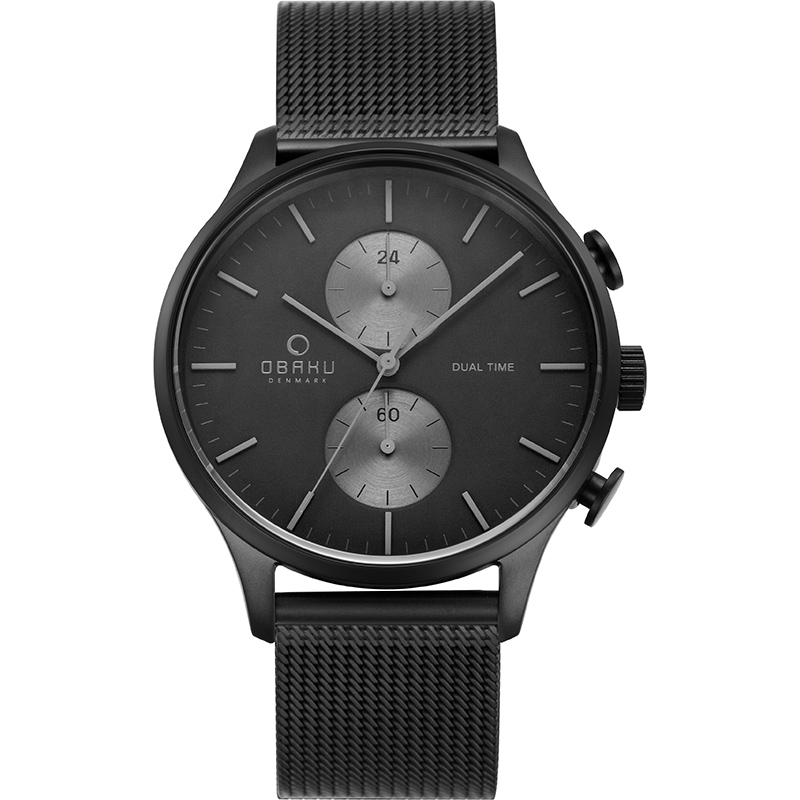 Obaku Men watch GRAN - CHARCOAL FRONT view