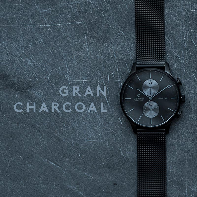Obaku Men watch GRAN - CHARCOAL SM3 view