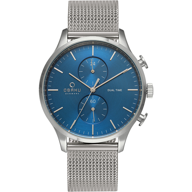 Obaku Men watch GRAN - CYAN FRONT view