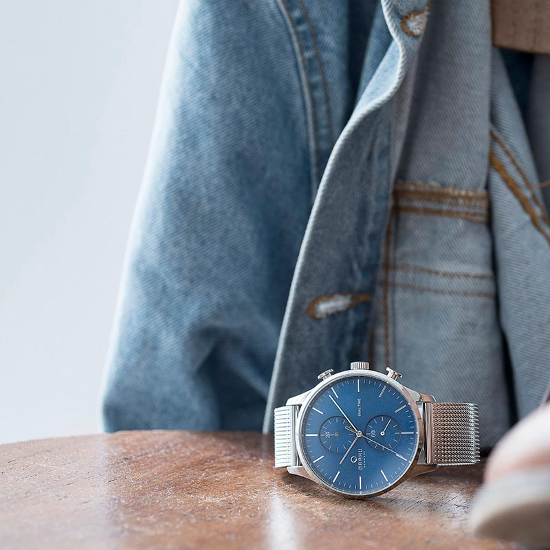 Obaku Men watch GRAN - CYAN SM1 view