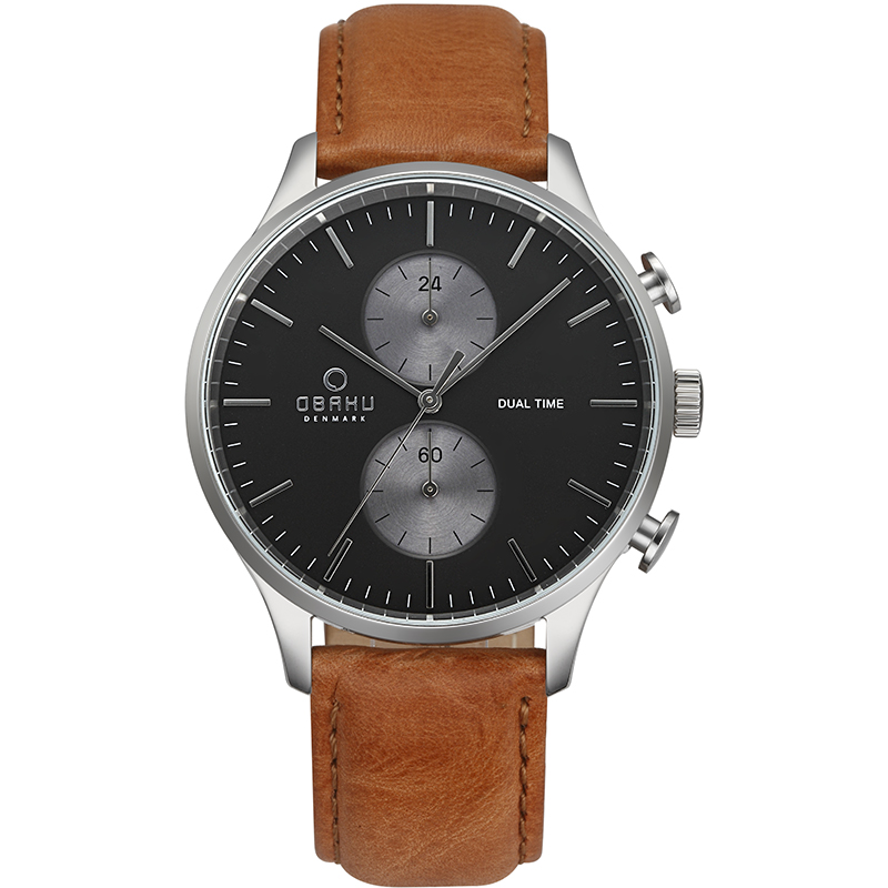 Obaku Men watch GRAN - CAMEL FRONT view