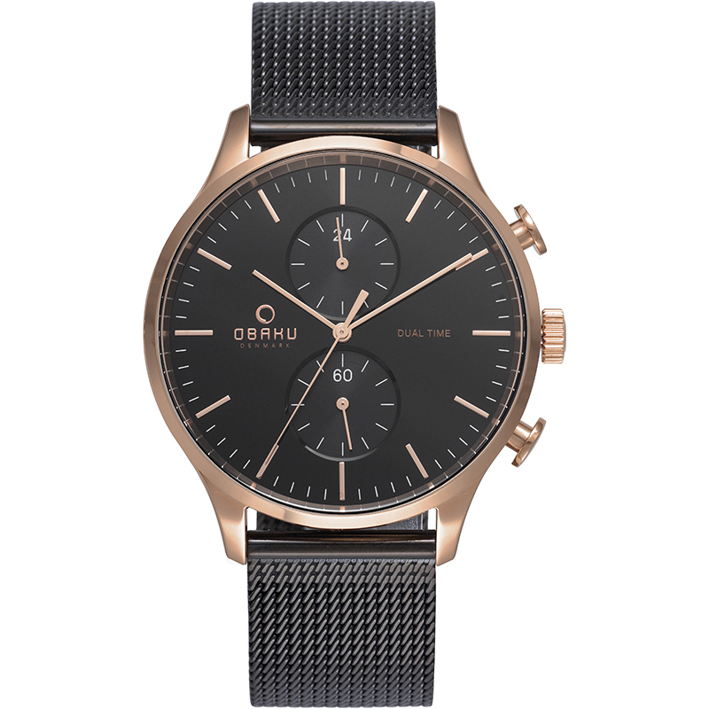 Obaku Men watch GRAN - NIGHT FRONT view