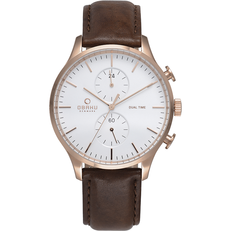 Obaku Men watch GRAN - MAHOGANY