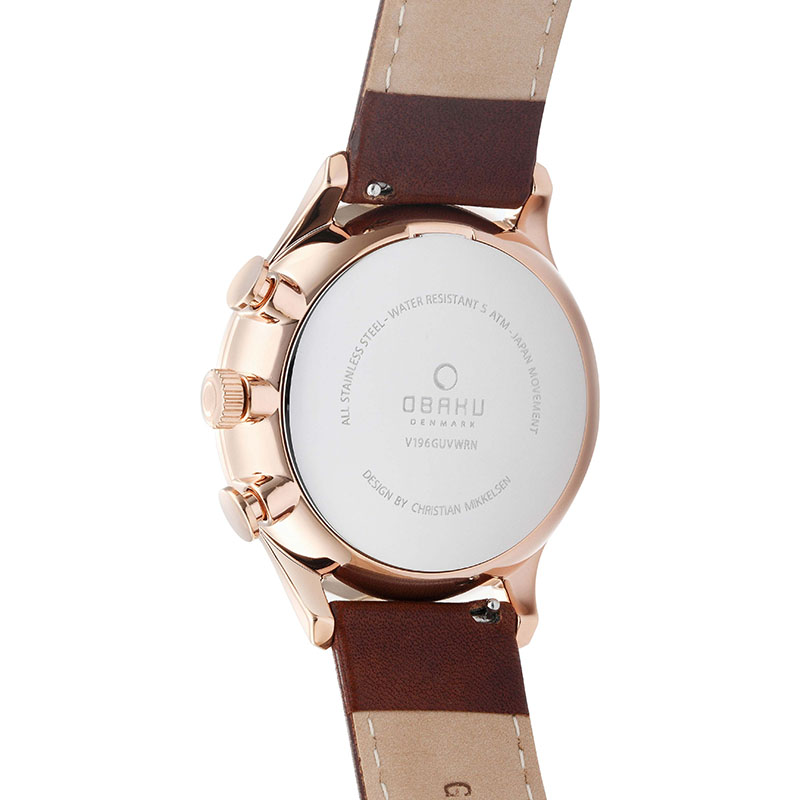 Obaku Men watch GRAN - MAHOGANY BACK view
