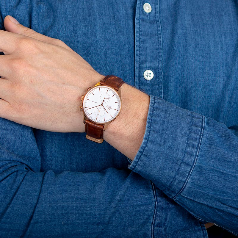 Obaku Men watch GRAN - MAHOGANY WRIST view