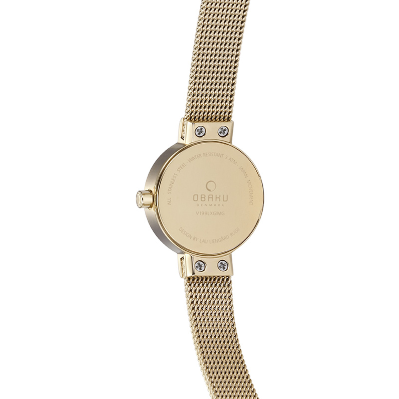 Obaku Women watch SPIRE - GOLD BACK view
