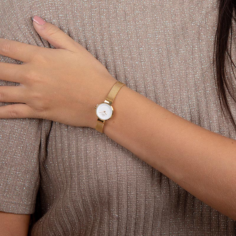 Obaku Women watch SPIRE - GOLD WRIST view