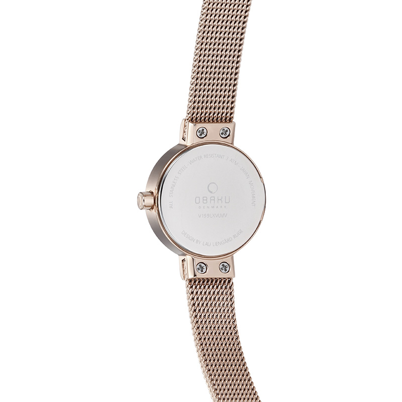 Obaku Women watch SPIRE - AZURE BACK view