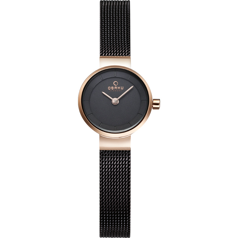 Obaku Women watch SPIRE - WALNUT FRONT view