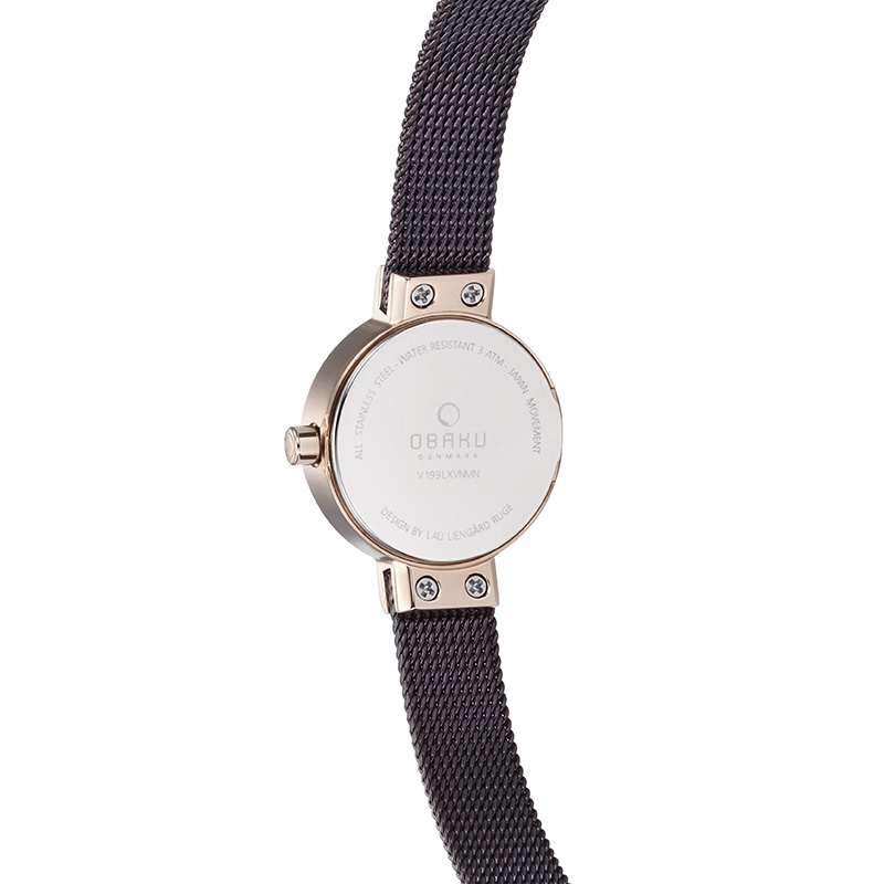 Obaku Women watch SPIRE - WALNUT BACK view