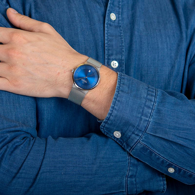 Obaku Men watch HAV - CYAN WRIST view
