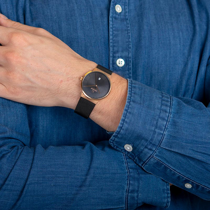 Obaku Men watch HAV - NIGHT WRIST view