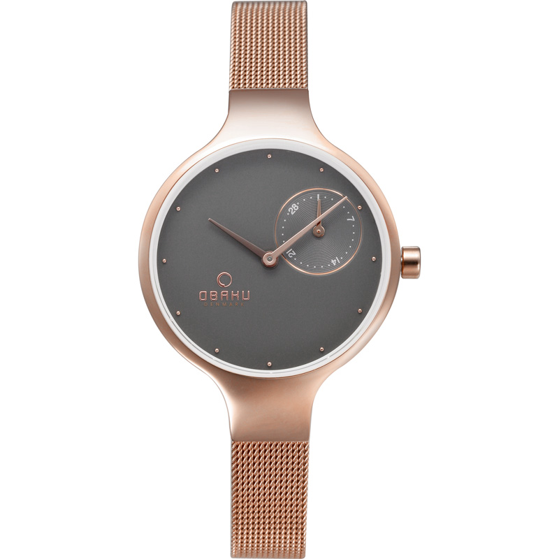 Obaku Women watch ENG - BLUSH FRONT view