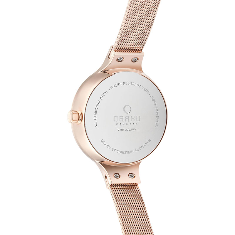 Obaku Women watch ENG - BLUSH BACK view
