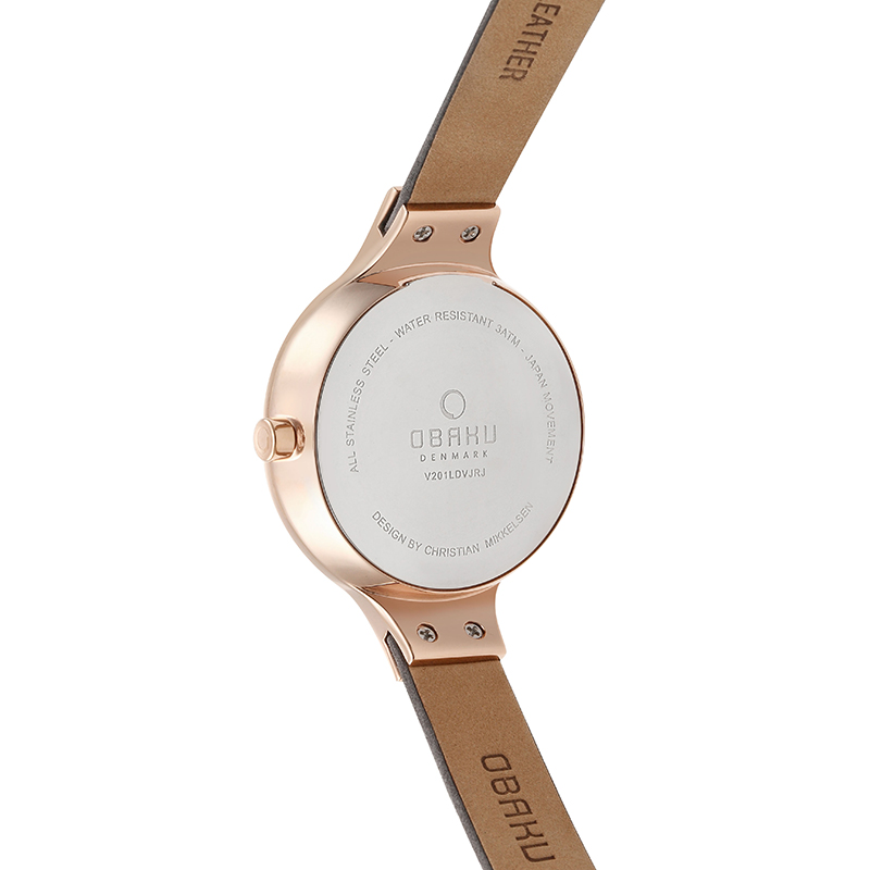 Obaku Women watch ENG - PEBBLE BACK view