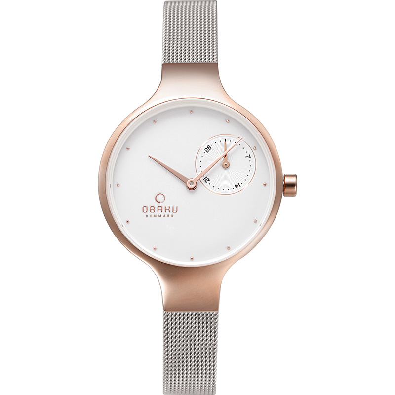 Obaku Women watch ENG - ROSE BI FRONT view