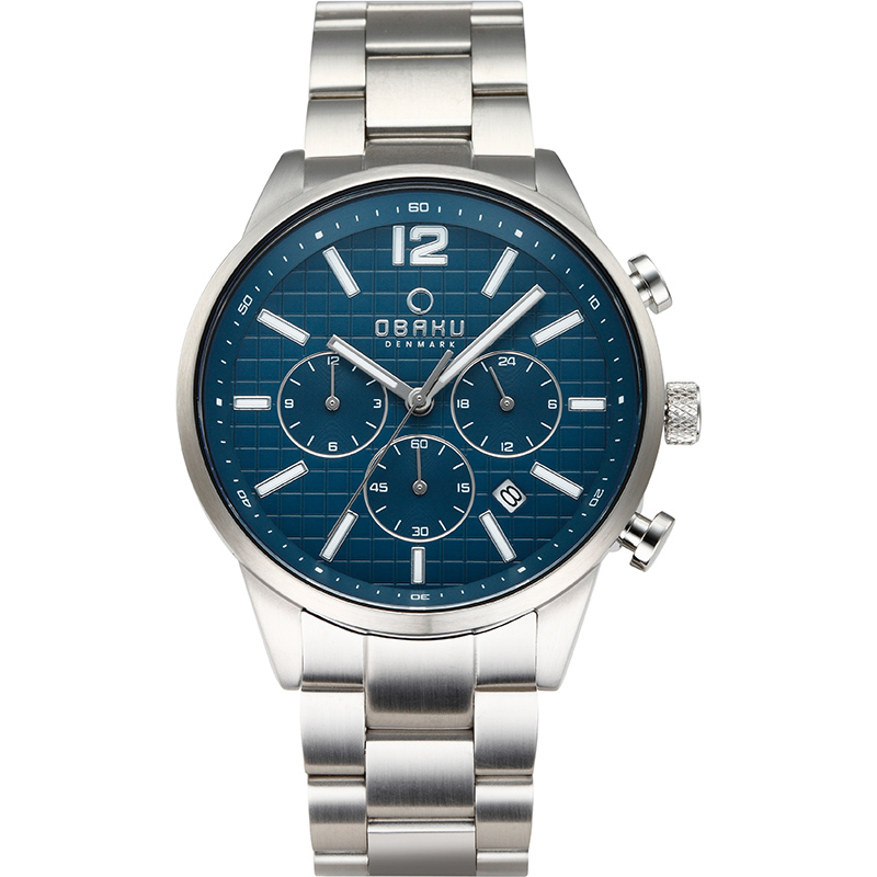 Obaku Men watch SKOV - DENIM FRONT view