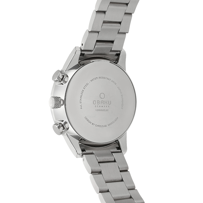 Obaku Men watch SKOV - DENIM BACK view