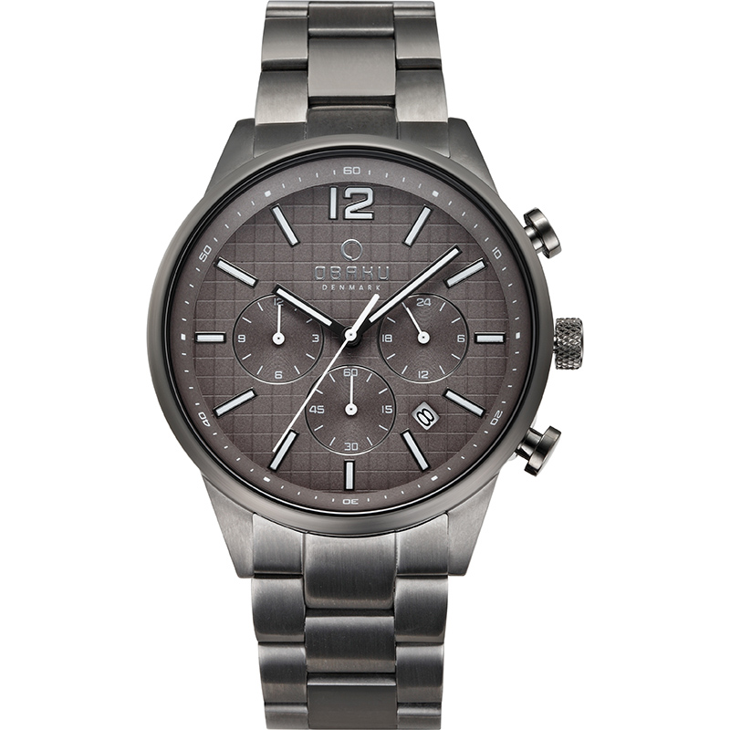 Obaku Men watch SKOV - SMOKEY FRONT view