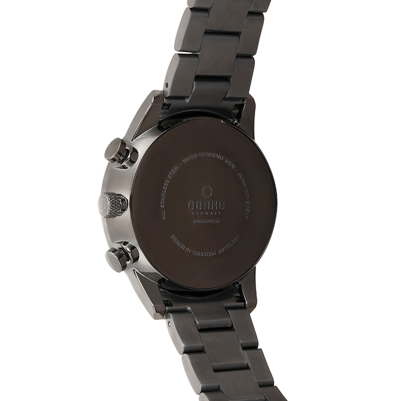 Obaku Men watch SKOV - SMOKEY BACK view
