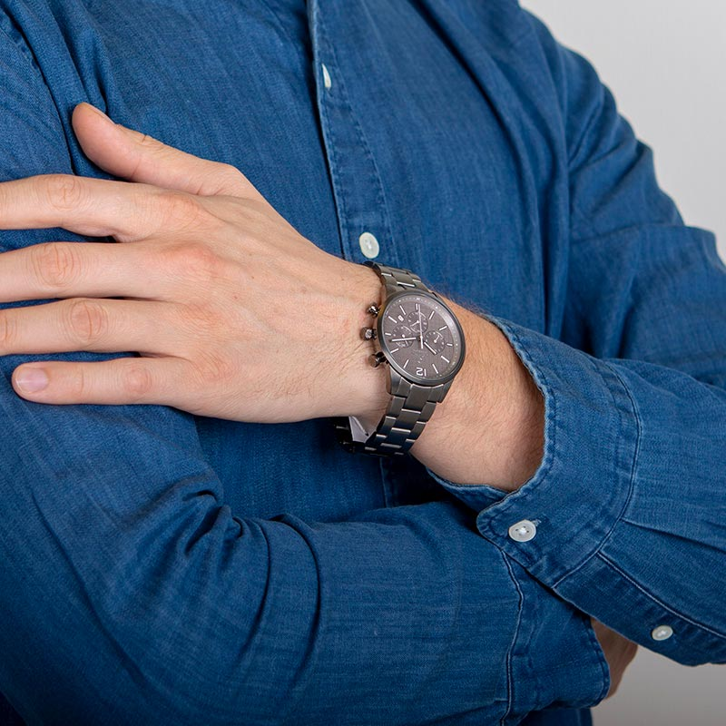 Obaku Men watch SKOV - SMOKEY WRIST view