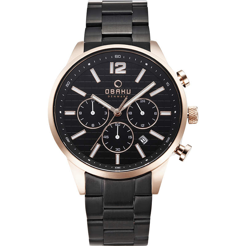 Obaku Men watch SKOV - INK FRONT view