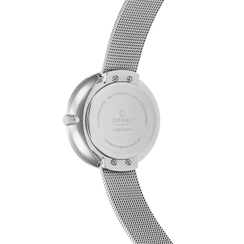 Obaku Women watch LYS - STEEL BACK view