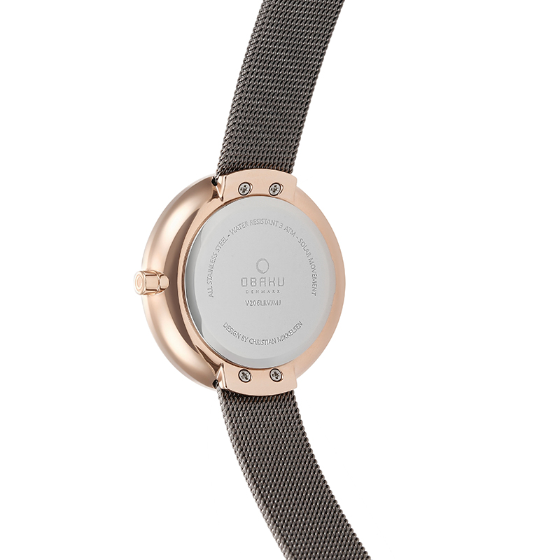 Obaku Women watch LYS - GRANITE BACK view