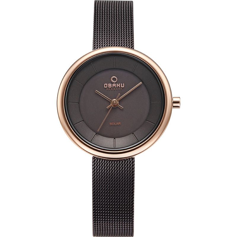 Obaku Women watch LYS - WALNUT FRONT view