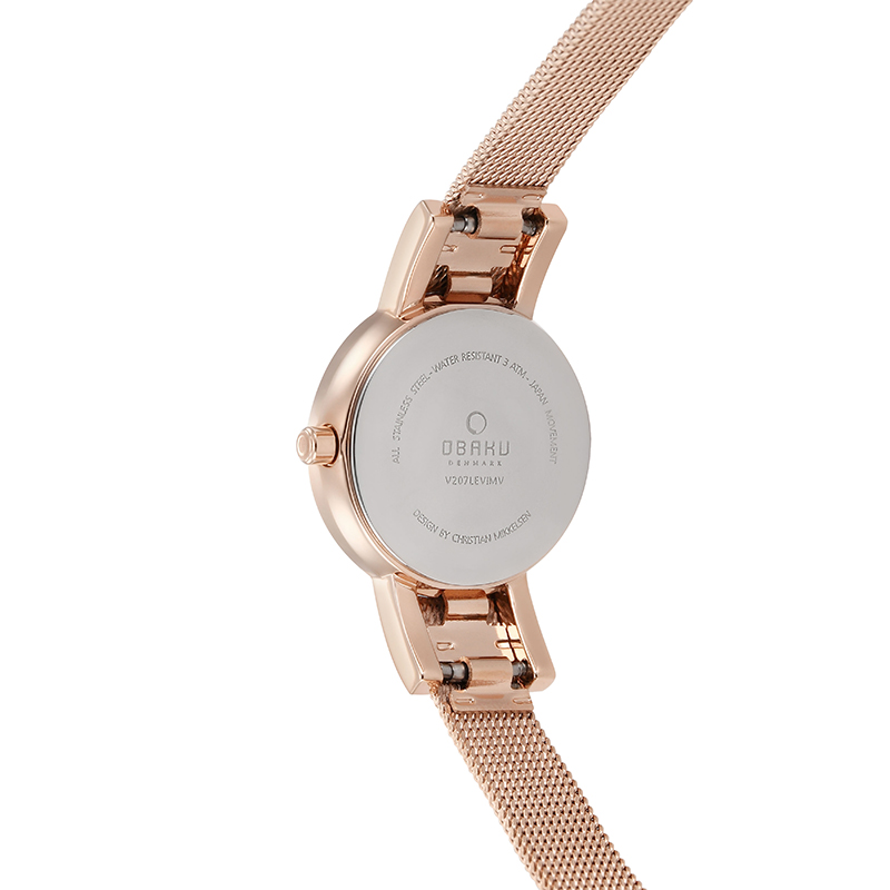 Obaku Women watch LYKKE - ROSE BACK view