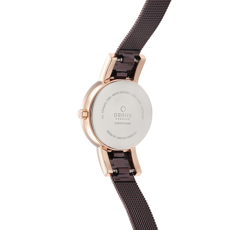 Obaku Women watch LYKKE - WALNUT BACK view