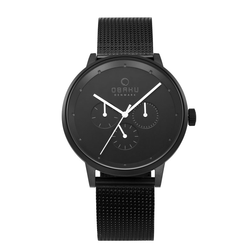 Obaku Men watch VENLIG - CHARCOAL FRONT view