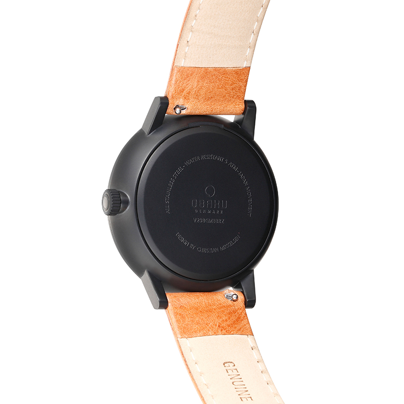 Obaku Men watch VENLIG - TAN BACK view