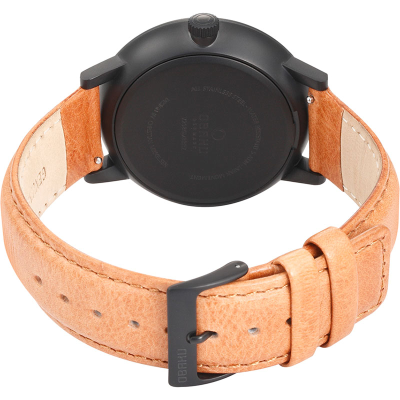 Obaku Men watch VENLIG - TAN CLOSE view