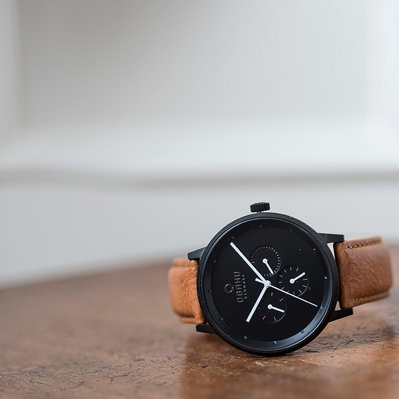 Obaku Men watch VENLIG - TAN SM1 view