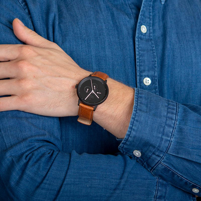Obaku Men watch VENLIG - TAN WRIST view