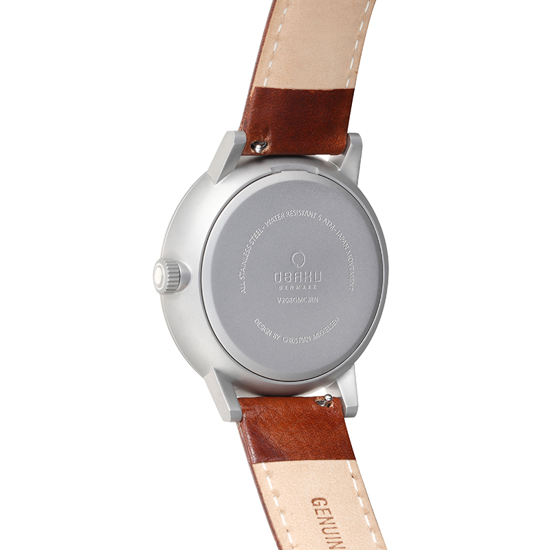 Obaku Men watch VENLIG - CLOUD BACK view