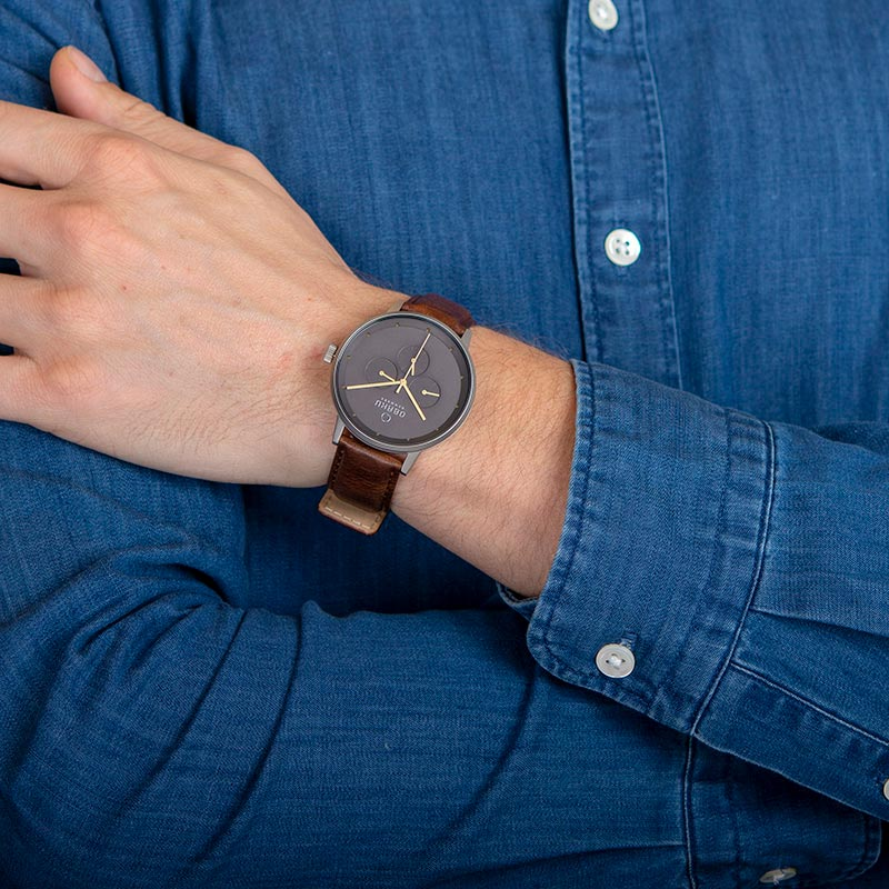 Obaku Men watch VENLIG - CLOUD WRIST view