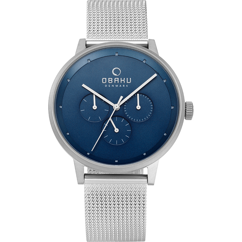 Obaku Men watch VENLIG - CYAN FRONT view