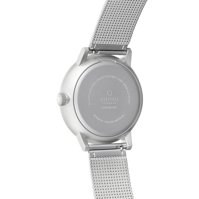 Obaku Men watch VENLIG - CYAN BACK view