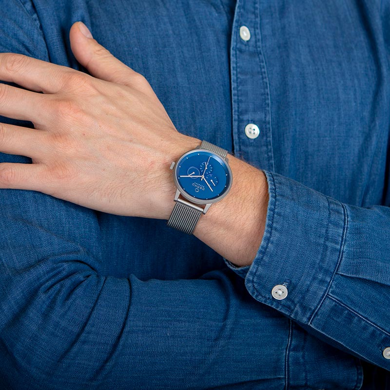Obaku Men watch VENLIG - CYAN WRIST view