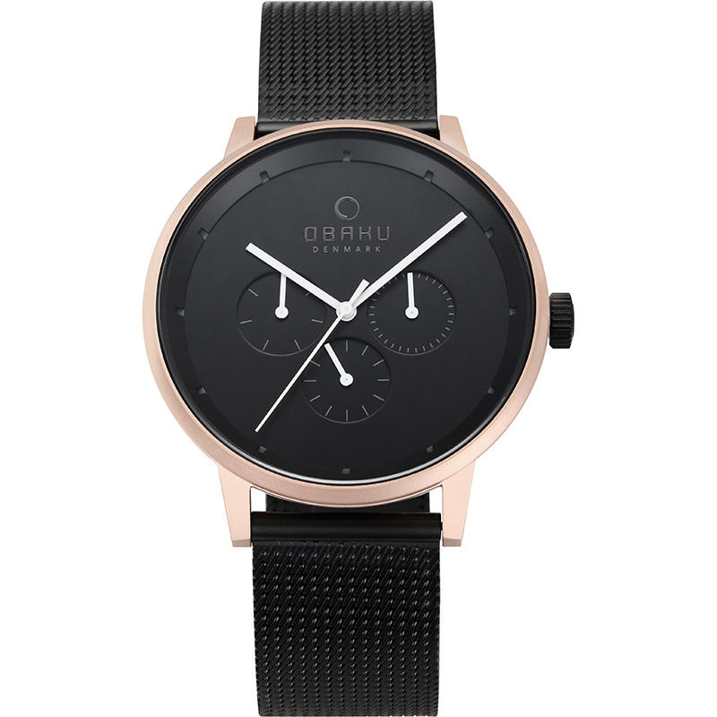 Obaku Men watch VENLIG - NIGHT FRONT view