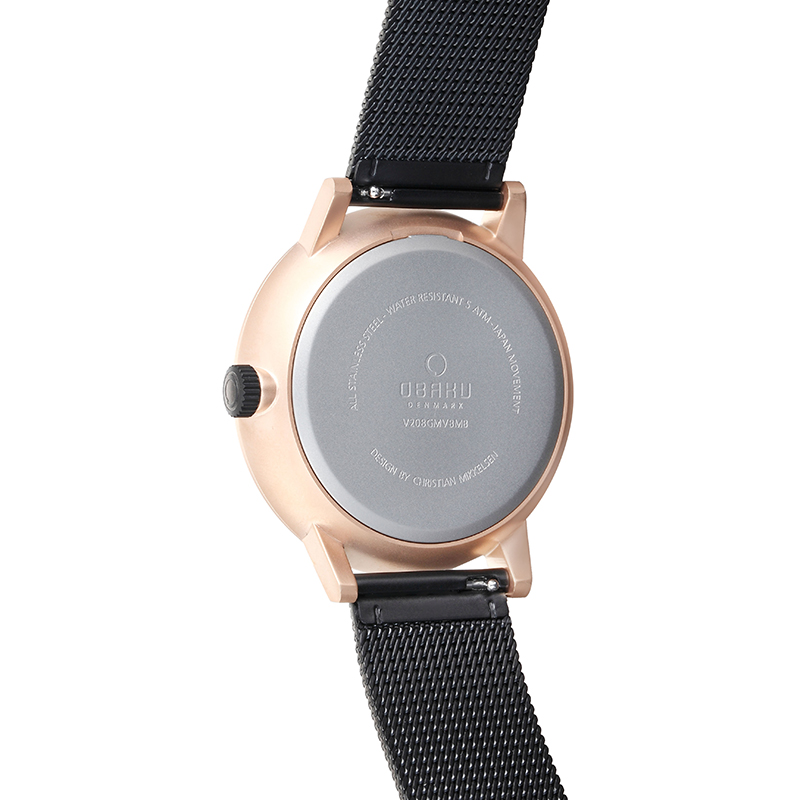 Obaku Men watch VENLIG - NIGHT BACK view