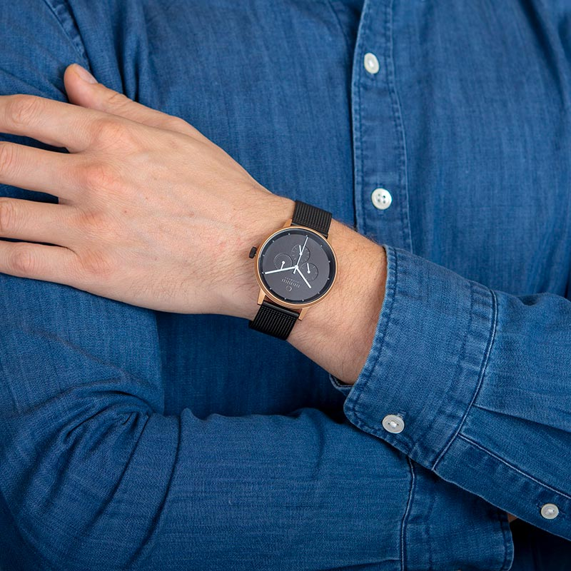 Obaku Men watch VENLIG - NIGHT WRIST view
