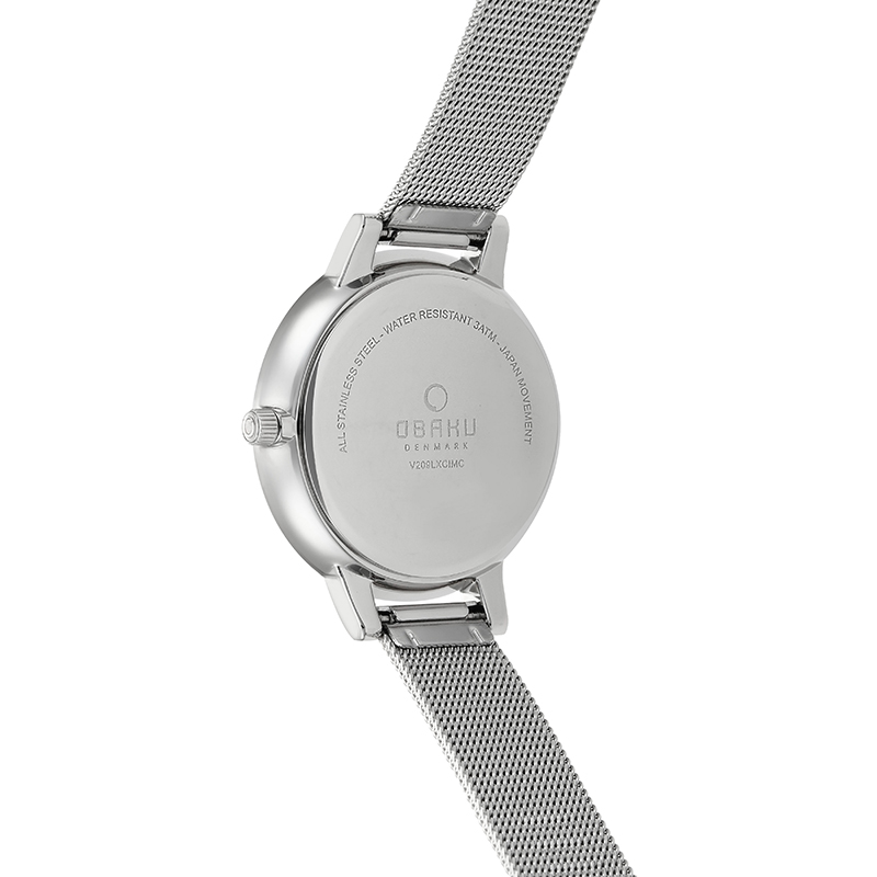 Obaku Women watch LIV - STEEL BACK view