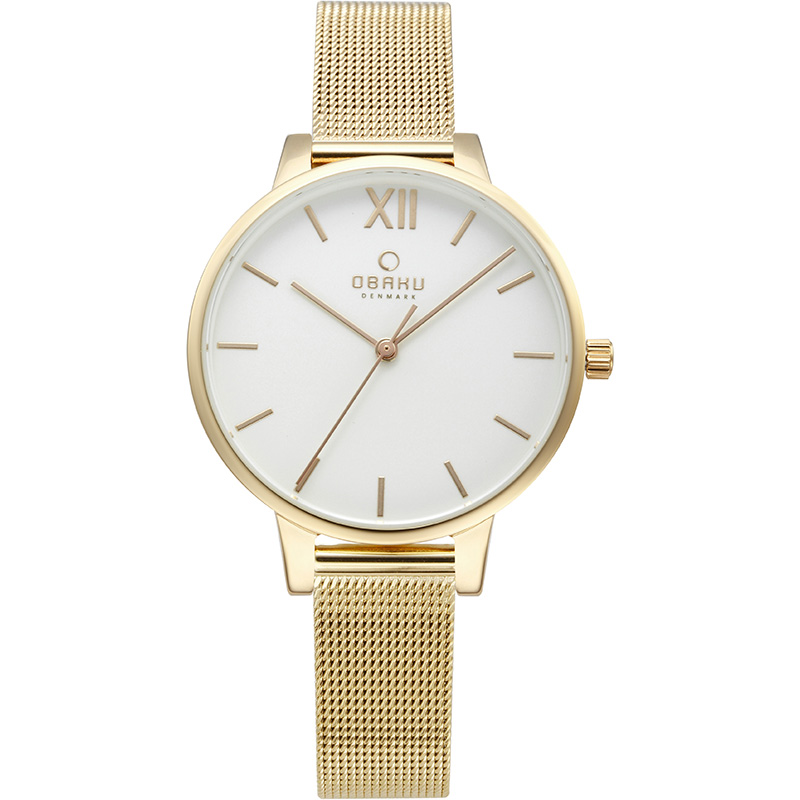 Obaku Women watch LIV - GOLD FRONT view