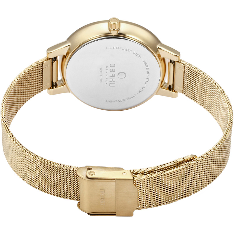 Obaku Women watch LIV - GOLD CLOSE view