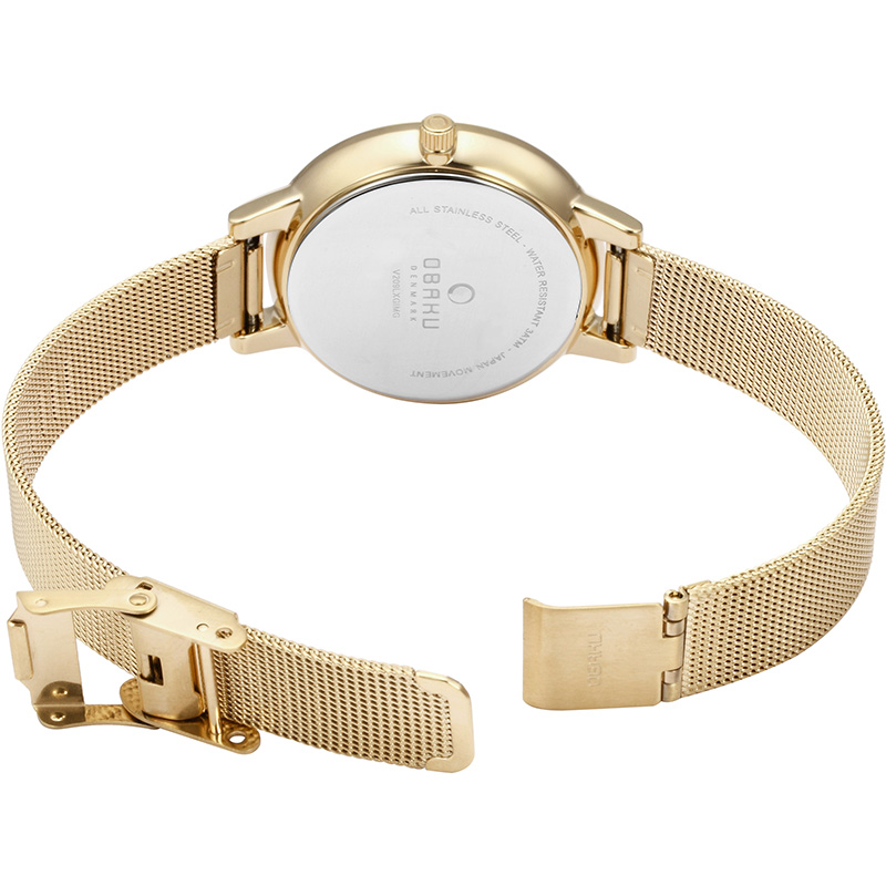 Obaku Women watch LIV - GOLD OPEN view